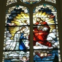 This window depicts Mary being crowned Queen of Heaven and Earth.